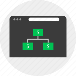 business, group, money, online, pyramid, team icon