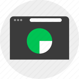 browser, business, chart, online, pie icon