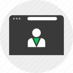 browser, business, online, person, staff icon