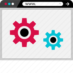 browser, gears, internet, options, setup, web icon