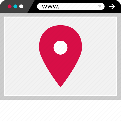 browser, gps, internet, location, web icon
