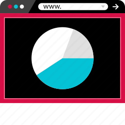 browser, chart, graph, internet, pie, web icon