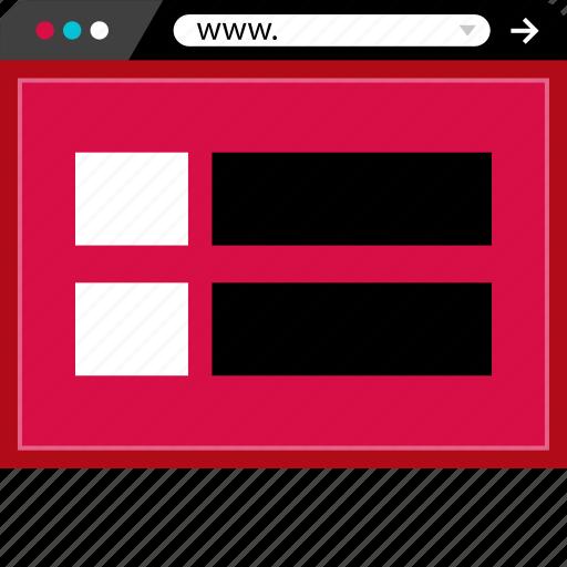 Web, browser, internet, mockup icon
