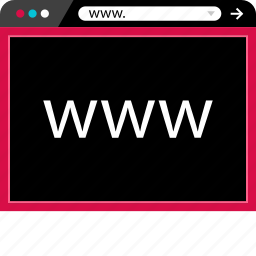 browser, internet, us, visit, web, www icon