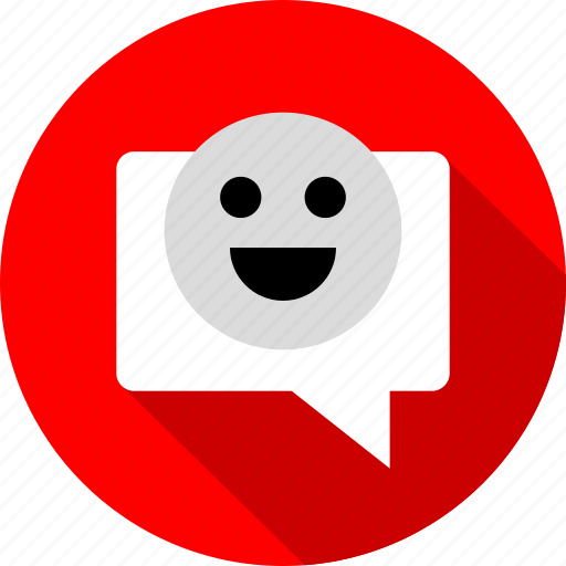 bubble, chat, conversation, happy, talk icon