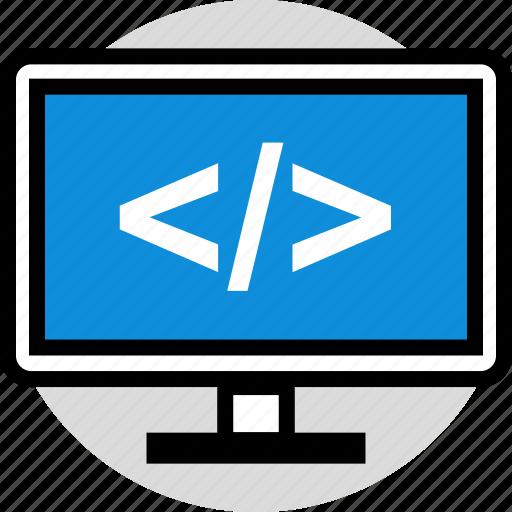 brackets, development, web icon