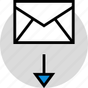 download, mail, technology icon