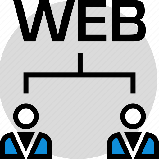 technology, two, users, web icon