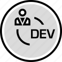 development, persona, user, web icon
