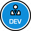 dev, persona, technology, web icon