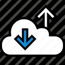 cloud, down, internet, up