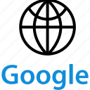 earth, globe, google icon
