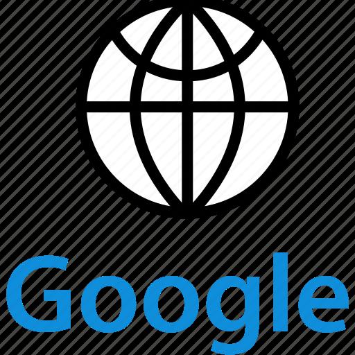 earth, globe, google icon
