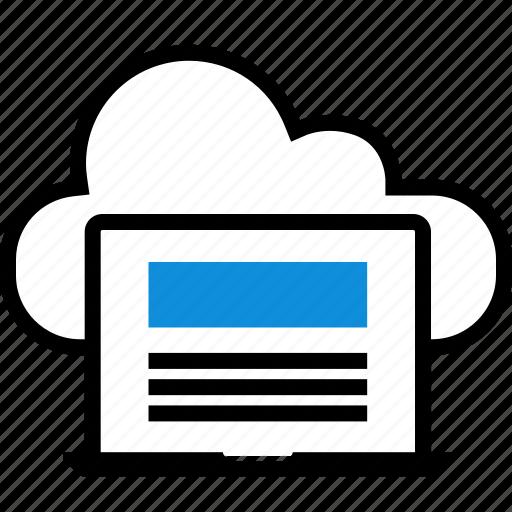 cloud, laptop, seo, web icon