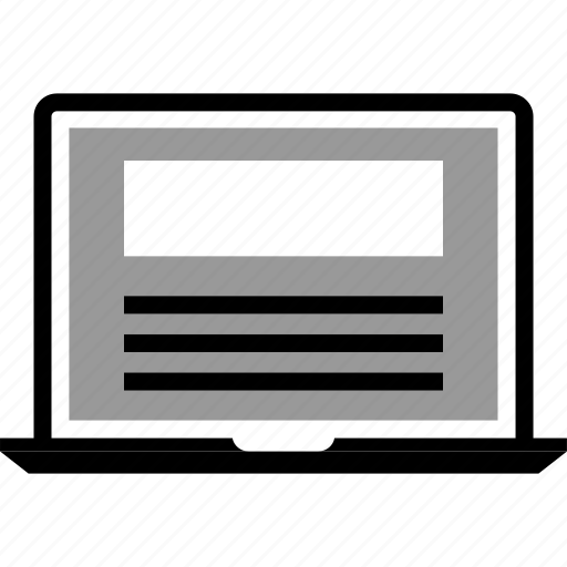 Laptop, mockup, wireframe icon - Download on Iconfinder