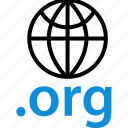 extension, globe, org icon