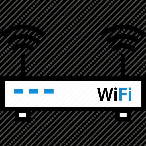 router, seo, web, wifi icon