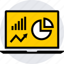 analytics, graphics, info icon