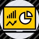 analytics, graphics, info