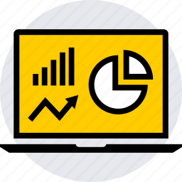 analytics, graphics, info icon