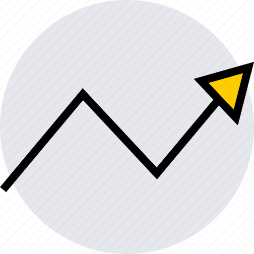 analytics, arrow, info icon