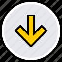 arrow, down, info