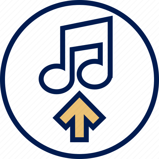 arrow, music, note, send icon