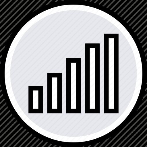 bars, data, info, up icon