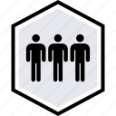 data, three, users icon