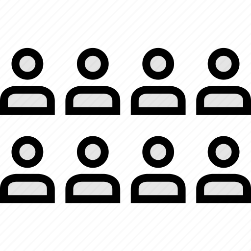 data, eight, users icon