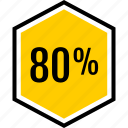 eighty, info, percent icon