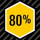 eighty, info, percent icon