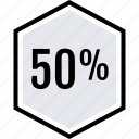 data, fifty, graphics icon