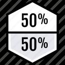 data, half, percent