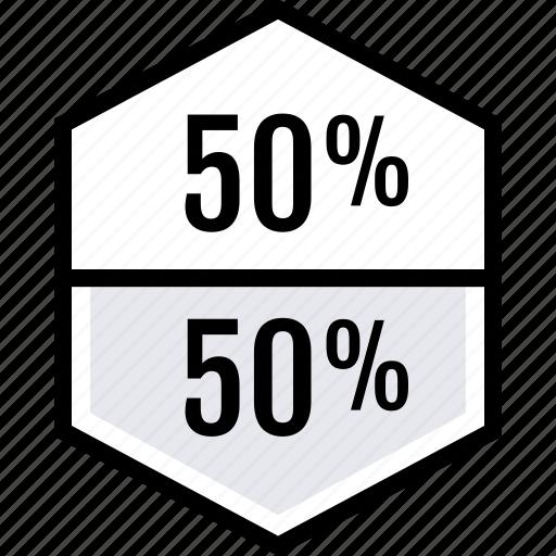 data, half, percent icon
