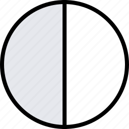 half, info, pie icon