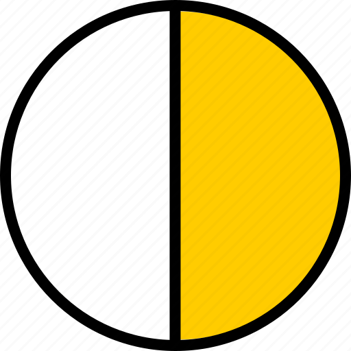 data, graphics, half, info, pie icon