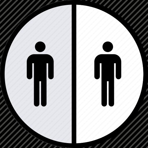 half, info, users icon