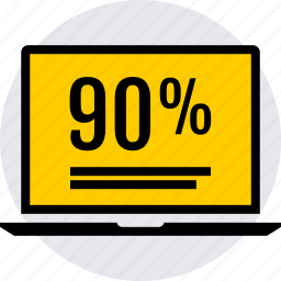 data, graphics, info, ninety icon
