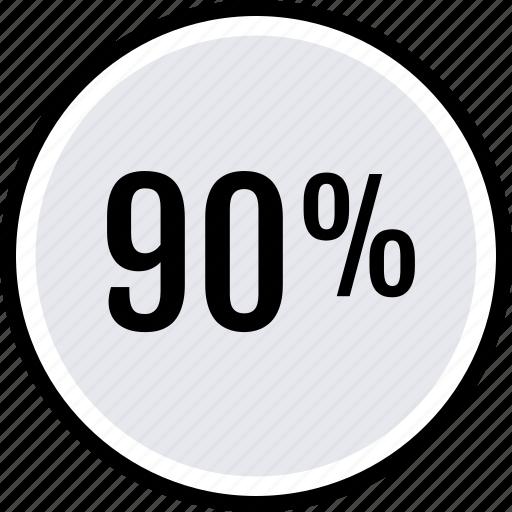 data, ninety, percent icon