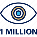 eye, million, one, views icon
