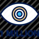 eye, million, views icon
