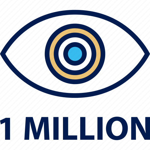 eye, million, one, views icon