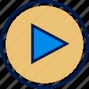 media, play, video