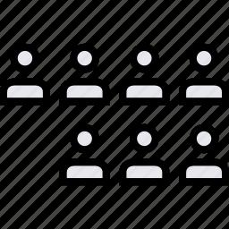 info, seven, users icon