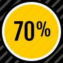 data, percent, seventy icon