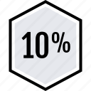 data, percent, ten icon