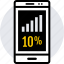 data, graphics, percent, ten icon