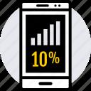 data, graphics, percent, ten icon
