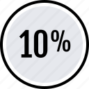 info, percent, ten icon